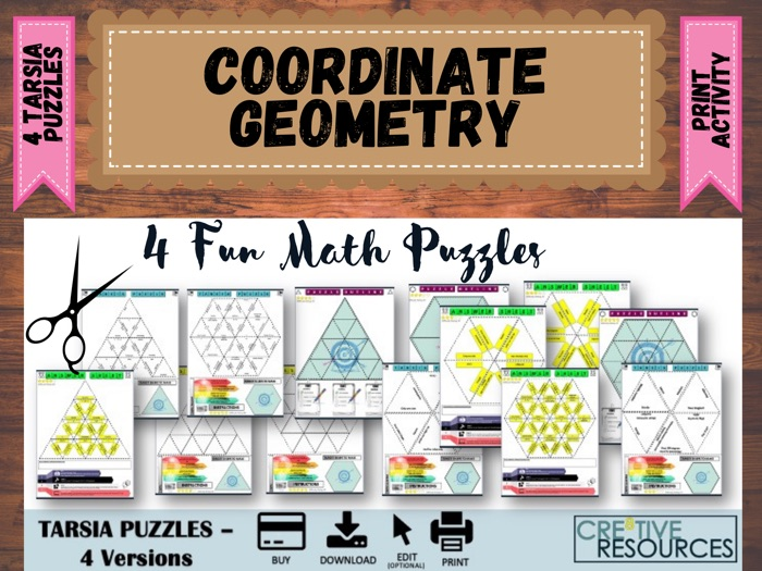 Coordinate Geometry and measurement  Puzzles
