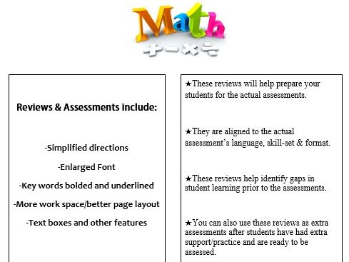 Grade 4, Math Module 7 REVIEW & ASSESSMENT w/Ans keys (printables & Smart Board)