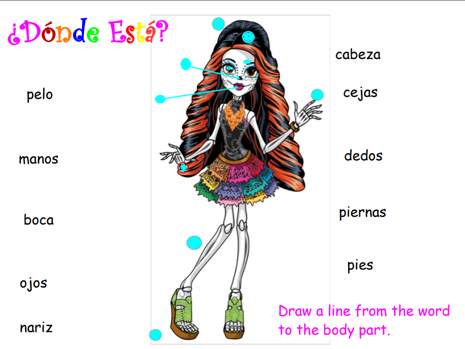 Day of the Dead: Dia de los Muertos-themed Teaching Body Parts