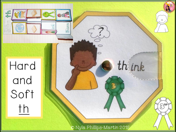 Phonics TH Sound Word Wheels and foldable worksheet