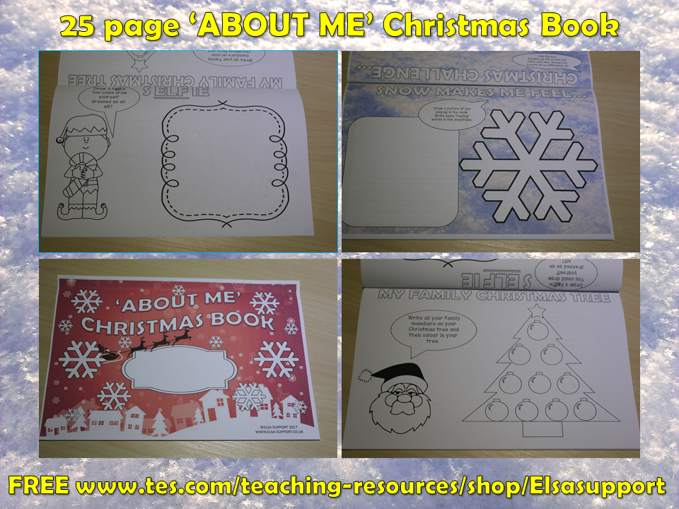 Christmas 'ABOUT ME' Book -Social and Emotional Learning