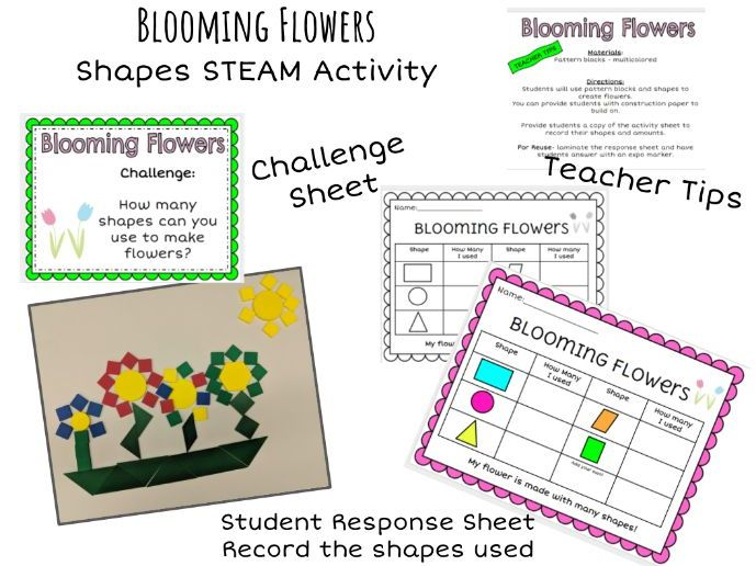 STEM - Kindergarten Shape Flowers