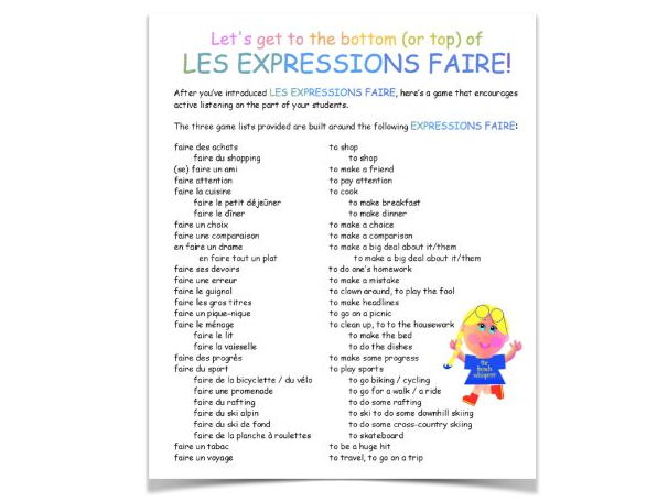 Let's get to the bottom (or top) of LES EXPRESSIONS FAIRE