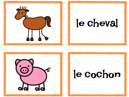 Les animaux de la ferme-Match Game