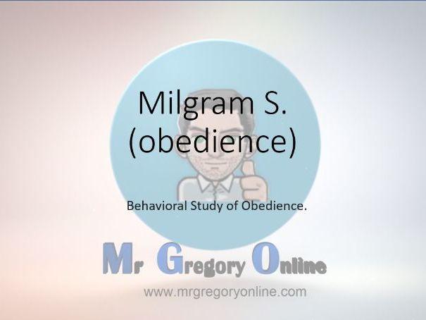 Milgram (obedience)