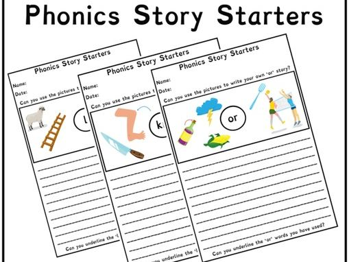 Phonics Story Starters 50+ Pages | Phonics Resources | Letters and Sounds | Year 1