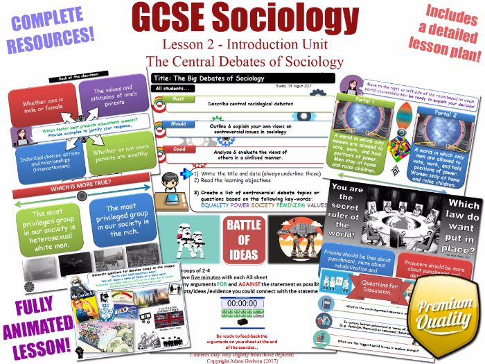 Central Debates of Sociology - Introduction Unit L2/12 - GCSE Sociology