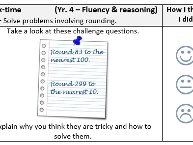 Year 4 -  Maths Reasoning - Rounding Bundle