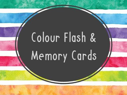 Colour Flash & Memory Card Game