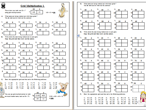 Huge multiplication and division pack all techniques included. Answers included