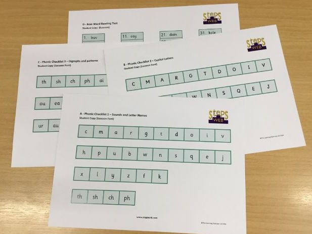 Alphabet and Phonic Knowledge Test