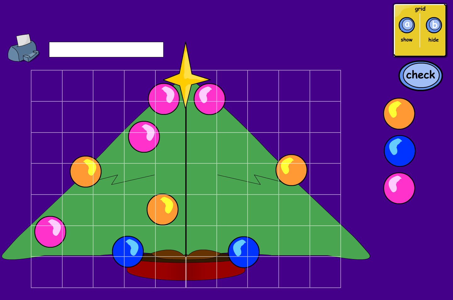 Christmas Tree Symmetry Interactive Game - Christmas KS1