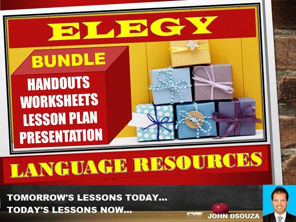 ELEGY POEM ANALYSIS BUNDLE