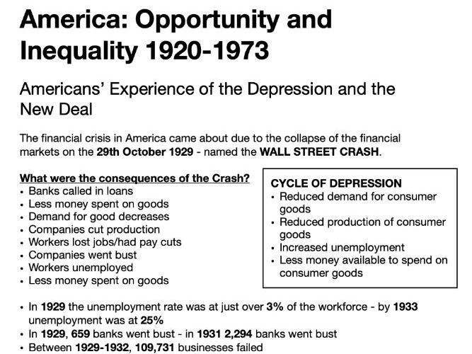 AQA America: 1920-1973