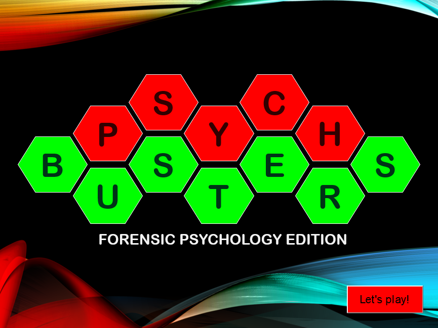 Forensic Psychology blockbusters game