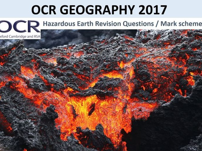 OCR Geography 2017 Hazardous Earth Revision Questions