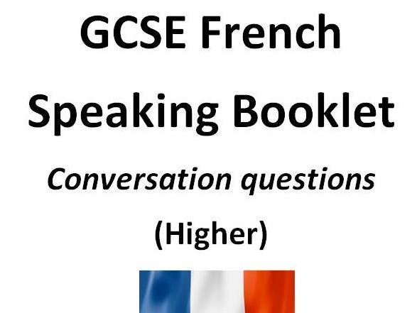 GCSE AQA French conversation questions - Higher