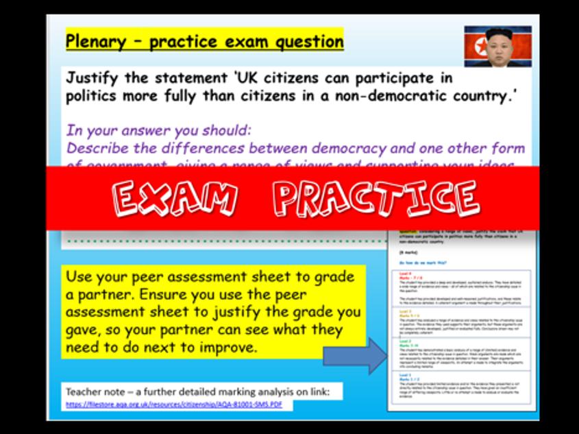 AQA Citizenship Exam Practice