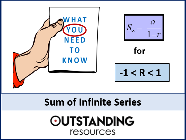 Algebra: Sequences 10 - Sum of Infinite Series (A-Level) + lots of resources
