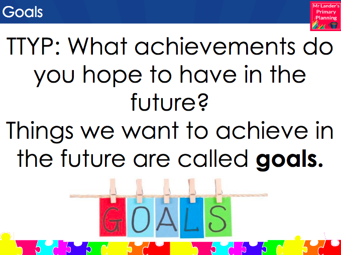 Achievements and Goals (PSHE Lesson or Assembly)