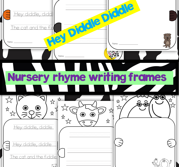 Nursery Rhyme Writing Frames- Hey Diddle Diddle