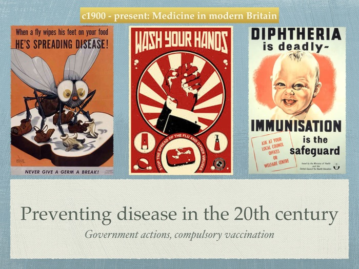 GCSE History of Medicine. 20th Century. Preventing disease.