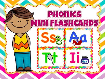 Jolly Phonics Mini Flashcards (11 pages ) 42 letter sounds