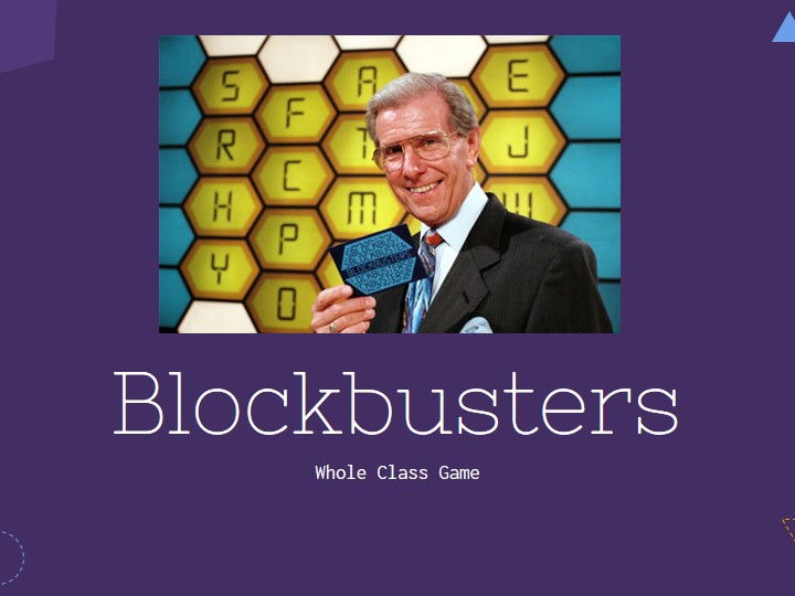 Blockbusters - Whole Class Revision Game Instructions and Game