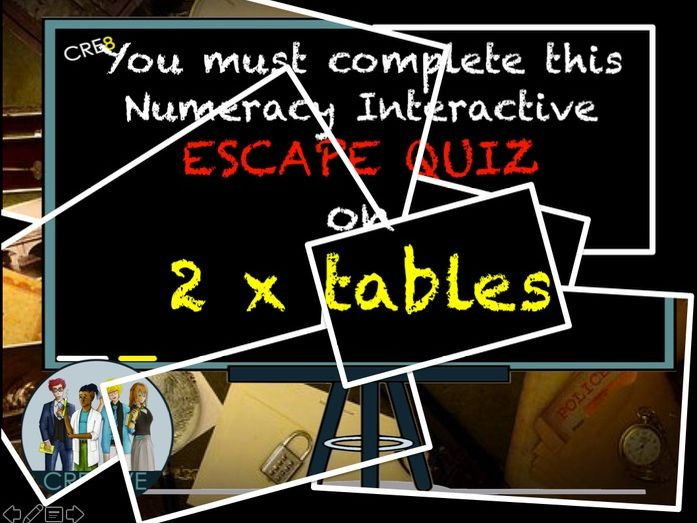 Multiplication Two Times Tables Escape Quiz