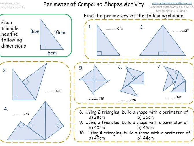 Perimeter of Compound Shapes Activity