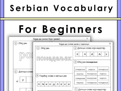 Serbian Vocabulary for Beginners