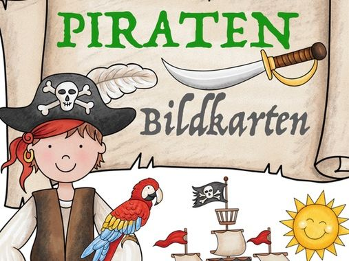 Deutsch: Piraten Bildkarten / flash cards German Märchen, Wortschatz - Kinder German