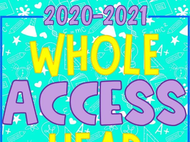 2020-2021 WHOLE YEAR RESOURCE ACCESS for Dressed In Sheets