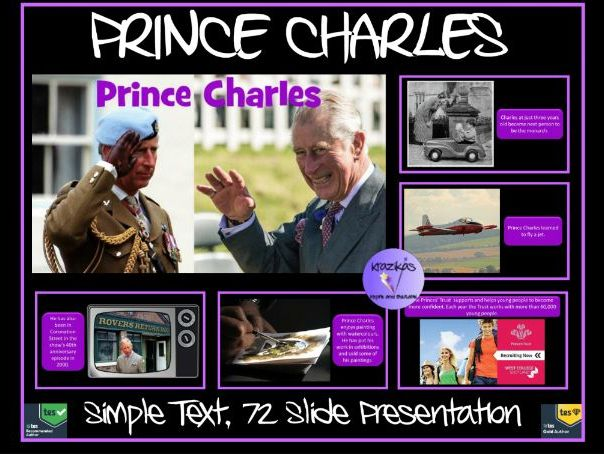 Prince Charles: PowerPoint Presentation  - Simple Text