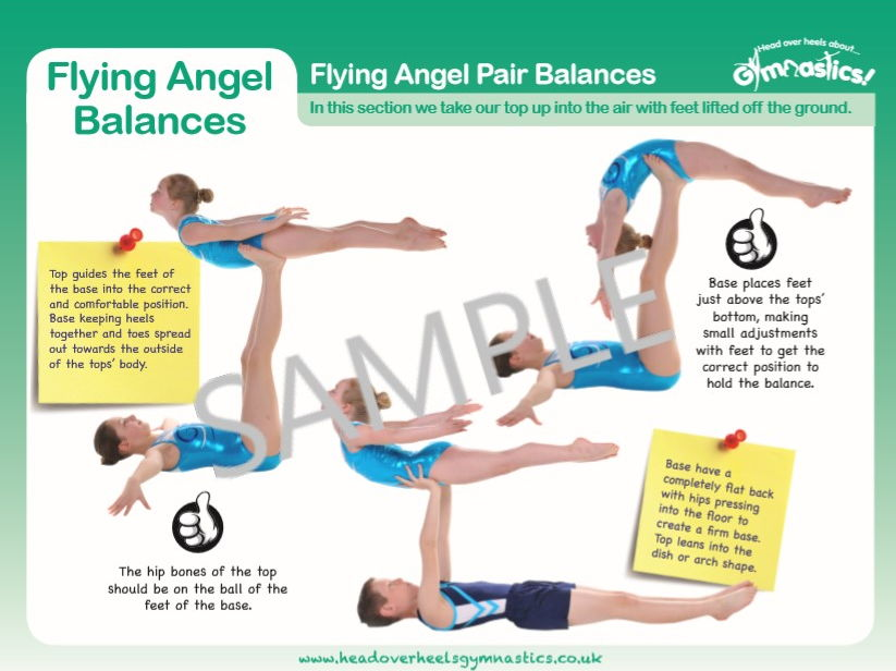 Gymnastics Pair and Trio Balances - Flying Angels