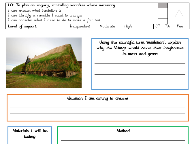 Insulation investigation - which material is best? (Viking theme)
