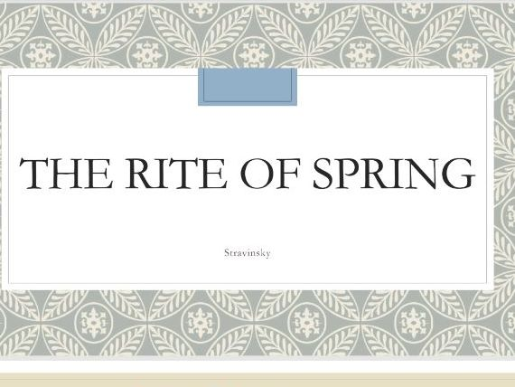 Analysis of The Rite of Spring