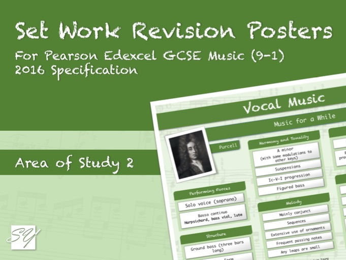 Set Work Revision Posters for Pearson Edexcel GCSE Music (2016 Specification) - Area of Study 2