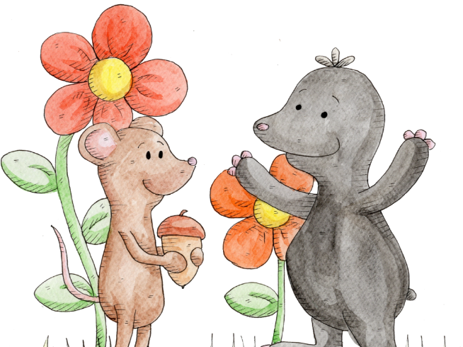 Vole and Mole, Hannah's Phonic Stories, split digraph o-e sound