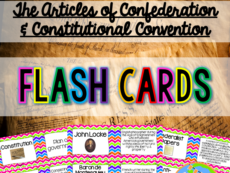 A social studies life teaching resources tes articles of confederation and constitutional convention flash cards publicscrutiny Choice Image