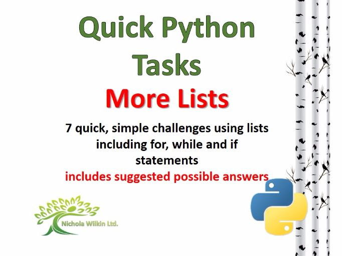 More Lists with Python (Quick Challenges)