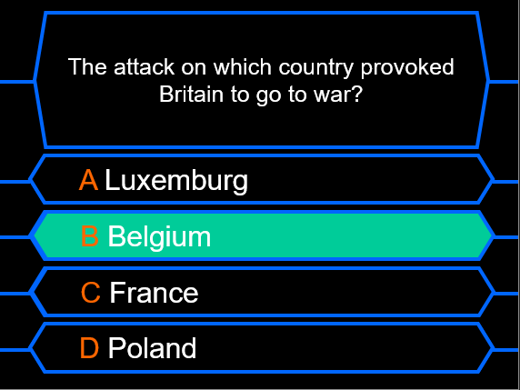 Millionaire Quiz! (World War I Edition)