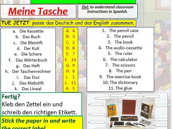 COMPLETE Logo 1 module 1 unit 4 - Meine Tasche pptx