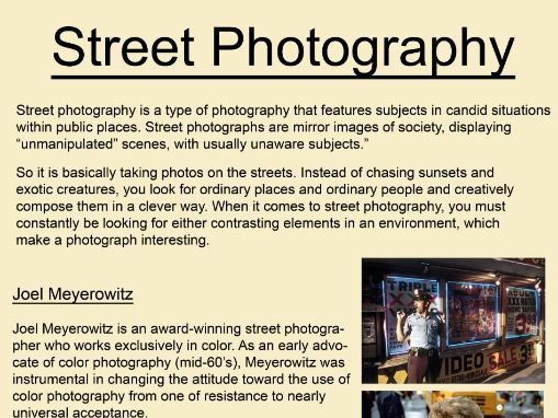Art and Photography Street Photography Poster