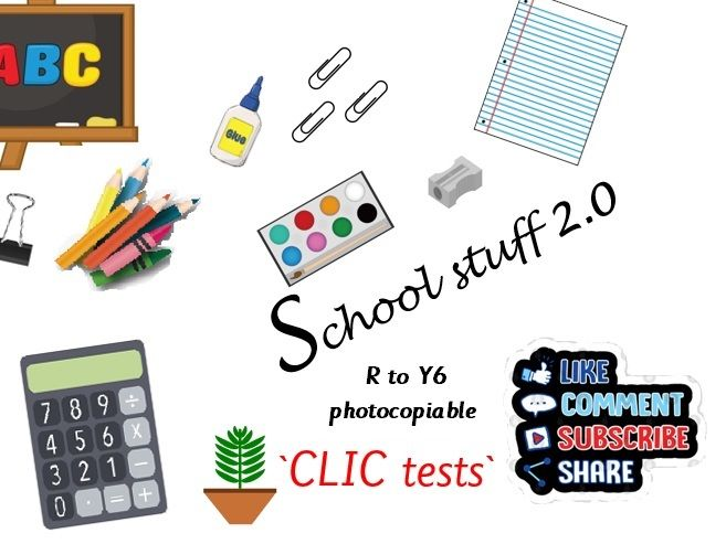 R to Y6 CLIC tests photocopiable