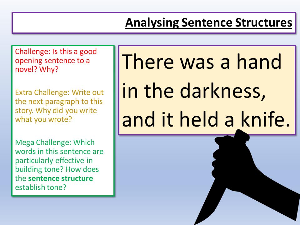 Eduqas Paper 1 Sentences