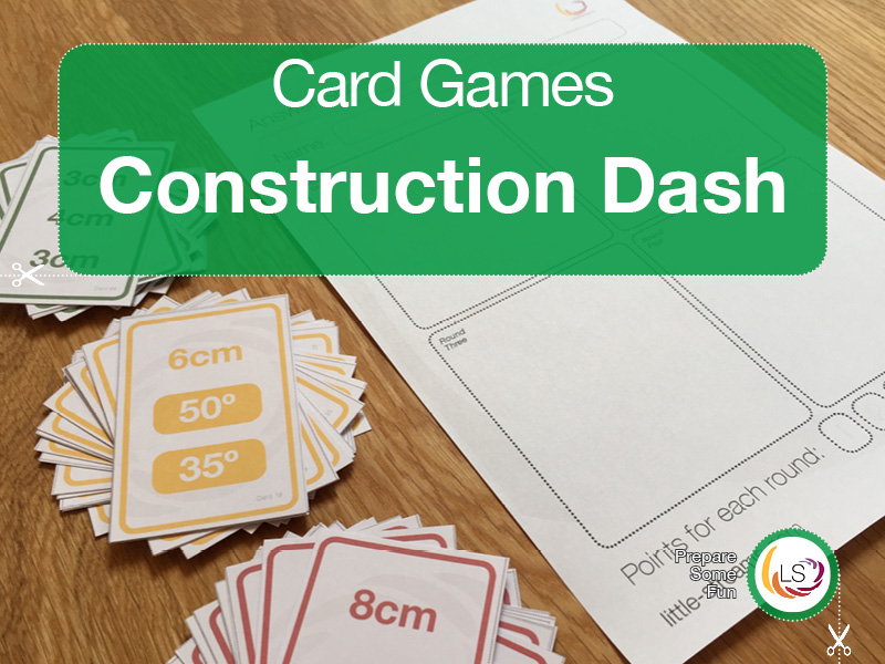 Triangle Construction Dash | Card Game