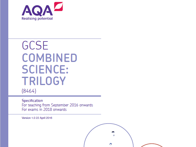AQA Science Trilogy GCSE specification (8464)