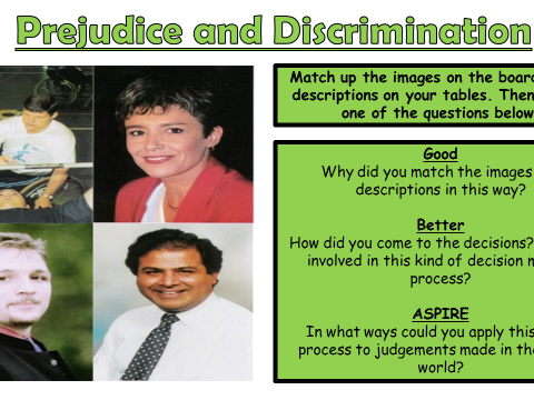 AQA A GCSE Theme F Human Rights and Social Justice: Lesson 2 Prejudice and Discrimination