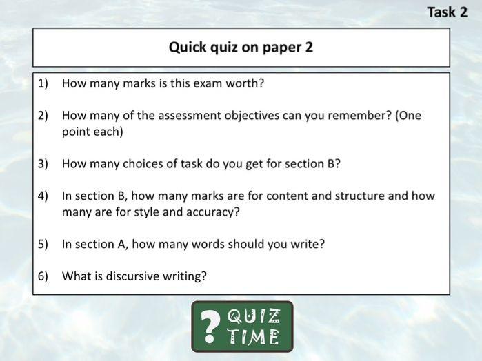 Cambridge IGCSE 0500 - Overview of Language Paper 2
